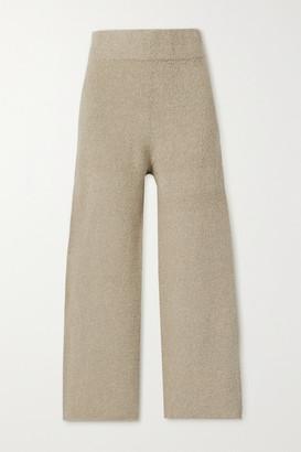 LAUREN MANOOGIAN Miter Pima Cotton-blend Wide-leg Pants - Mushroom