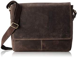 Buffalo David Bitton James Tyler Leather Bag Oxford, made of Waxed Leather, approx. 38 x 30 x 12 cm