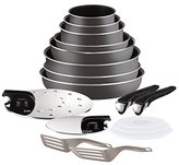 Tefal Ingenio 5 l2049002 Set of Frying Pans and Saucepans – Essential Charcoal 17 Piece Set – Suitable for all Heat Sources Except Induction