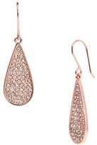Lauren Ralph Lauren Small Pave Hoop Teardrop Earrings