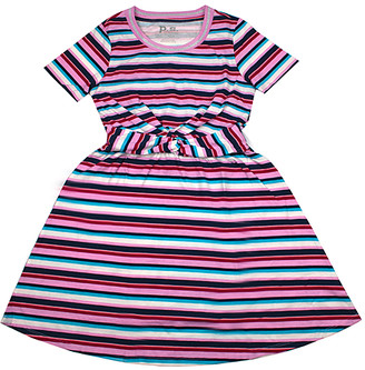 Aeropostale p.s. from Girls' Casual Dresses LTPIN - Light Pink & Teal Stripe A-Line Dress - Girls