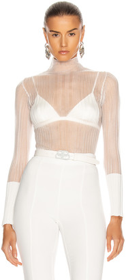 Dion Lee Opacity Pleat Long Sleeve Top in Ivory | FWRD