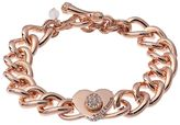 Juicy Couture Heart Curb Chain Toggle Bracelet