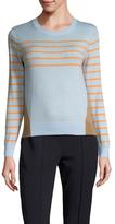 Cynthia Rowley Striped Color Block Cotton Sweater