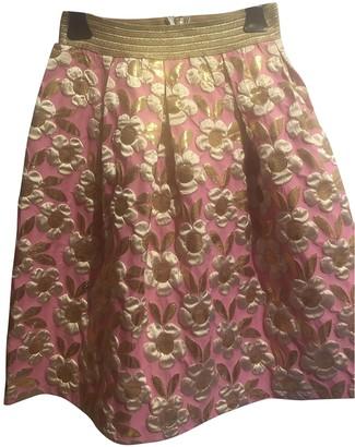 Lm Lulu Pink Cotton - elasthane Skirt for Women