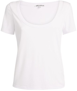 Good American Ribbed Scoop T-Shirt