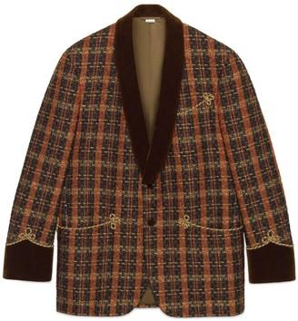 Gucci Lame check viscose jacket