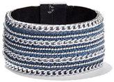 New York & Co. Denim Chain-Link Cuff Bracelet