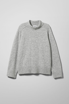 Weekday Avalon Turtleneck Sweater - Grey