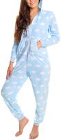 Angelina Blue Cloud Hooded Plush Pajamas