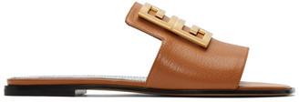 Givenchy Tan 4G Flat Mules