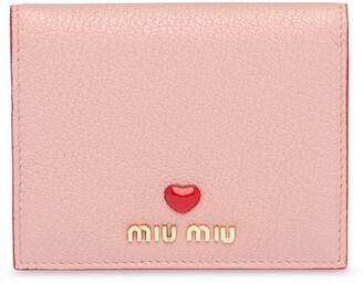 Miu Miu Heart Applique Compact Wallet