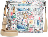 Giani Bernini Postcard Print Canvas Crossbody, Only at Macy's