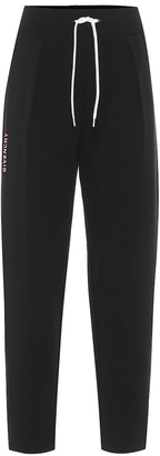 Givenchy Pleated embroidered sweatpants