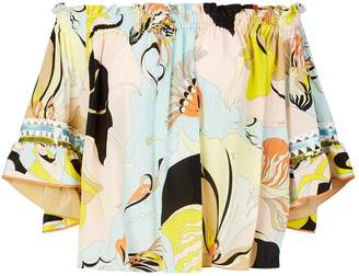Emilio Pucci Off-The-Shoulder Blouse