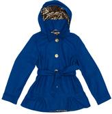 Pink Platinum Royal Blue Belted Ruffle-Hem Jacket - Toddler & Girls
