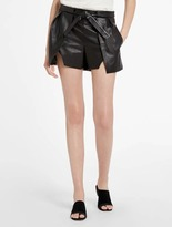 Halston Leather Shorts