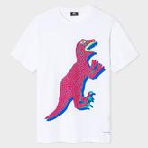 Paul Smith Men's White Organic-Cotton 'Dino' Print T-Shirt