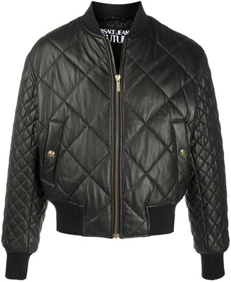Versace Jeans Couture Padded Zip-Up Lambskin Jacket