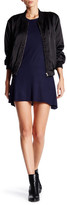 C&C California Short Sleeve Ribbed Skater Dress
