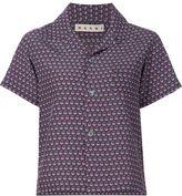 Marni boxy short sleeved shirt - women - Silk - 42