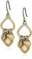 Lucky Brand Gold Open Drop Earrings