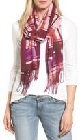 Nordstrom Women's Handicraft Plaid Tissue Weight Wool & Cashmere Scarf