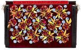 Christian Louboutin Vanite Rose-Embellished Velvet Clutch Bag