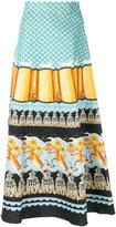Temperley London Foxglove printed midi skirt