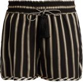 Etro Striped satin shorts