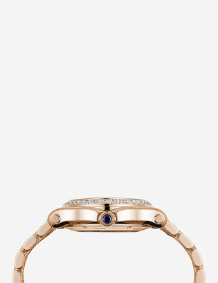 Chopard Happy Sport Medium rose-gold and diamond watch
