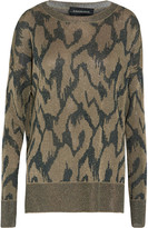 By Malene Birger Metallic jacquard sweater