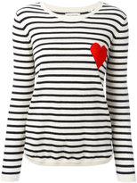 Chinti and Parker cashmere Breton stripe heart jumper - women - Cashmere - XS