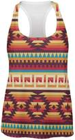 Tee's Plus Native American Pattern Red All Over Womens Work Out Tank Top - 2X-Large