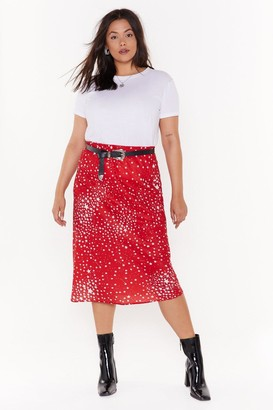 Nasty Gal Womens She's Got That Star Power Plus Midi Skirt - Red