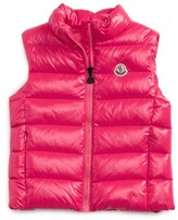 Moncler Toddler Girl's Ghany Water Resistant Shiny Down Puffer Vest
