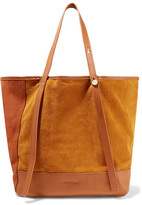 See by Chloe Andy Leather-trimmed Two-tone Suede Tote - Tan