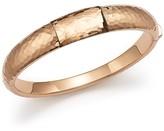 Roberto Coin 18K Rose Gold Martellato Bangle Bracelet with Smoky Quartz