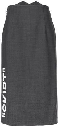 Off-White Off White formal longuette skirt