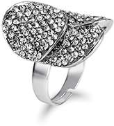 MC M&c Women's - FR15 - Glamorous Flat Circle Jewel-Studded -Tone Cocktail Ring