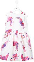 MSGM animal print dress - kids - Polyester - 4 yrs