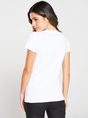 Armani Exchange Metallic T-shirt - White