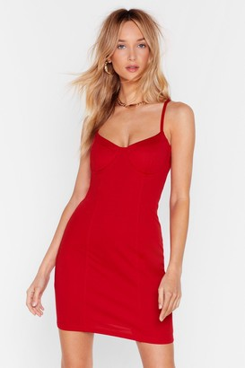 Nasty Gal Womens Bust Out Mini Dress - red - 4
