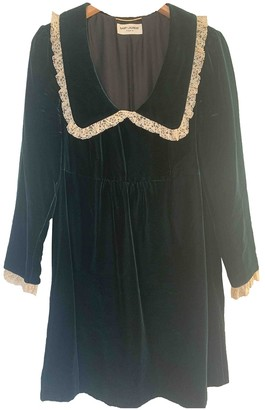 Saint Laurent Green Velvet Dress for Women