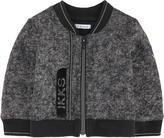 Ikks Full zip mottled fleece sweatshirt