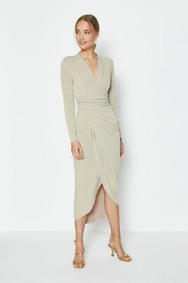 Coast Long Sleeve Jersey Wrap Dress