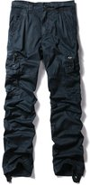 OCHENTA Men's Casual Sports Outdoors Military Cargo Pants Dark Blue Lable Size 34 (US Size 32)