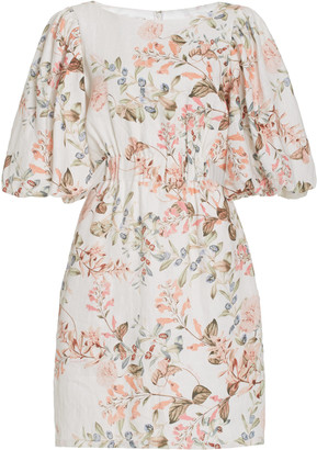 Cara Cara Bonnie Floral Linen Dress
