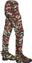 Adidas By Jeremy Scott Zip-Up Nylon Cargo Pants
