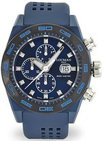 Locman Men's 46mm Silicone Band IP Steel Case Quartz Watch 0217V4-BKBLNKS2B
